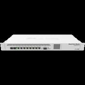 MikroTik Cloud Core Router, CCR1009-7G-1C-1S+ Front