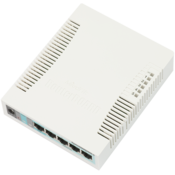MikroTik 5x Gigabit Ethernet Smart Switch Top Angle
