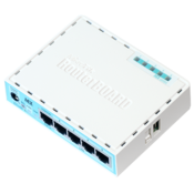 MikroTik hEX Ethernet Router Angled