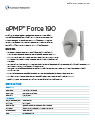 Cambium ePMP Force 190 5 GHz Subscriber Module Data Sheet